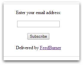 форма подписки feeburner