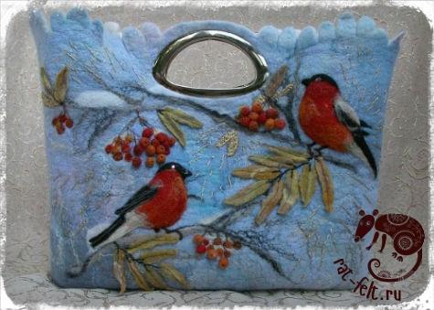 Валяная сумка Сумка Екатерины Тасминской 2