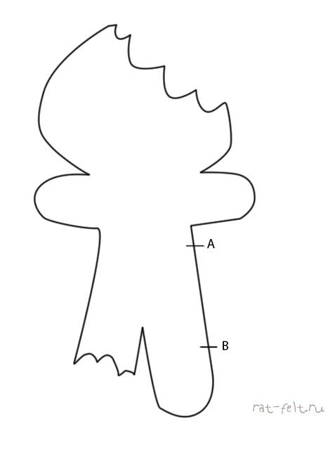 пряничный человек из фетра
