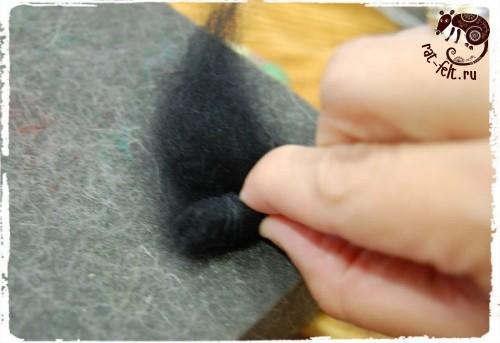 Техники валяния из шерсти для начинающих - сухое валяние