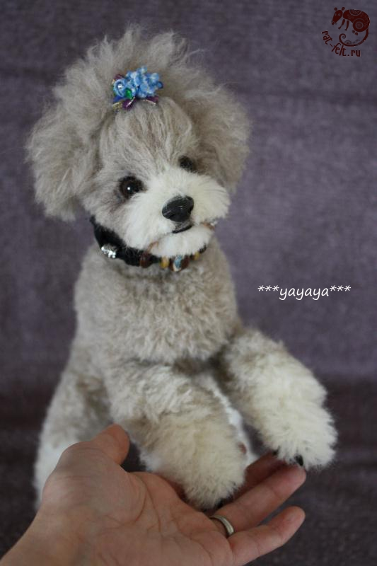 yayaya needle felting poodle