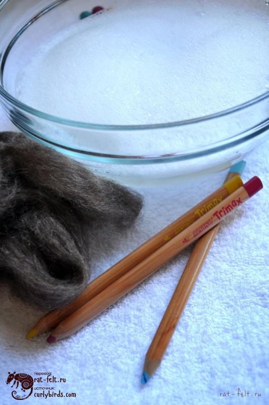 Материалы для обваливания карандаша