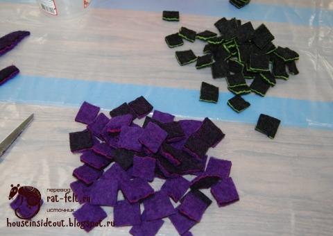 Элементы валяного браслета