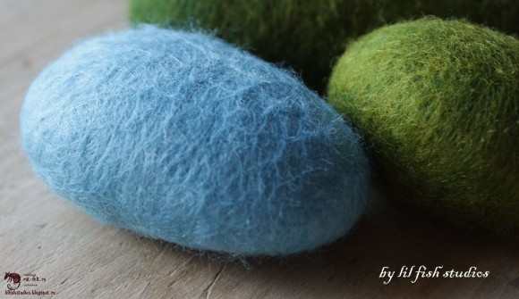 Камни из шерсти - мастер--класс
