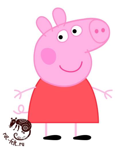 Мой рисунок мультяшной свинки