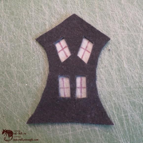Стенка изогнутого домика
