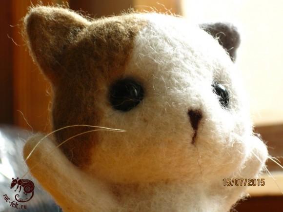 Обнимательный котенок из шерсти -мастер-класс по валянию
