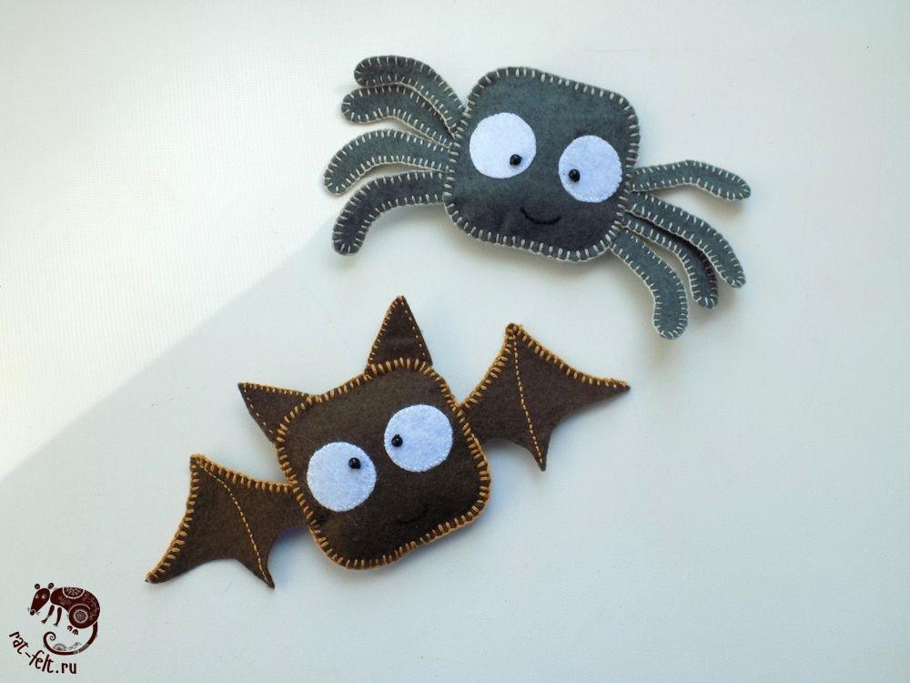 Паучок и летучая мышь - Хэллоуинские игрушки для детей