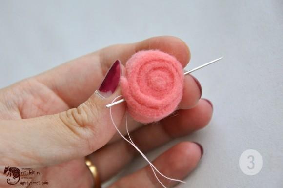 Сшить рулончик - будущую розу