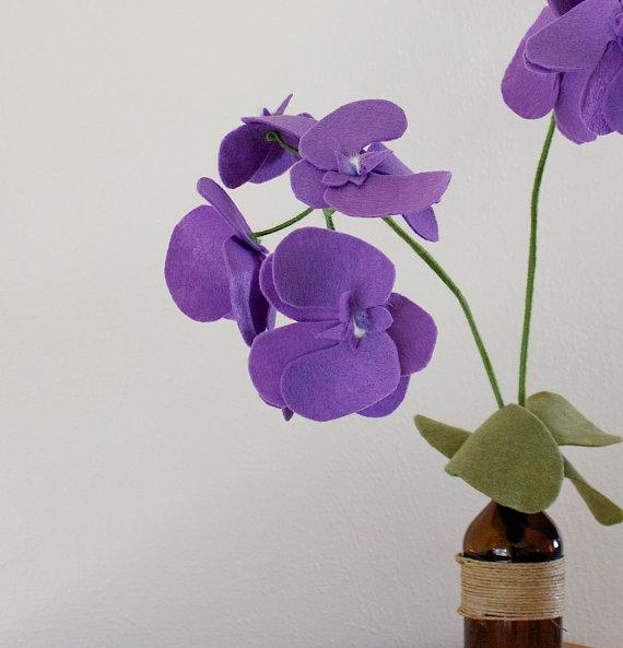 Фетровая Орхидея от BBrustic