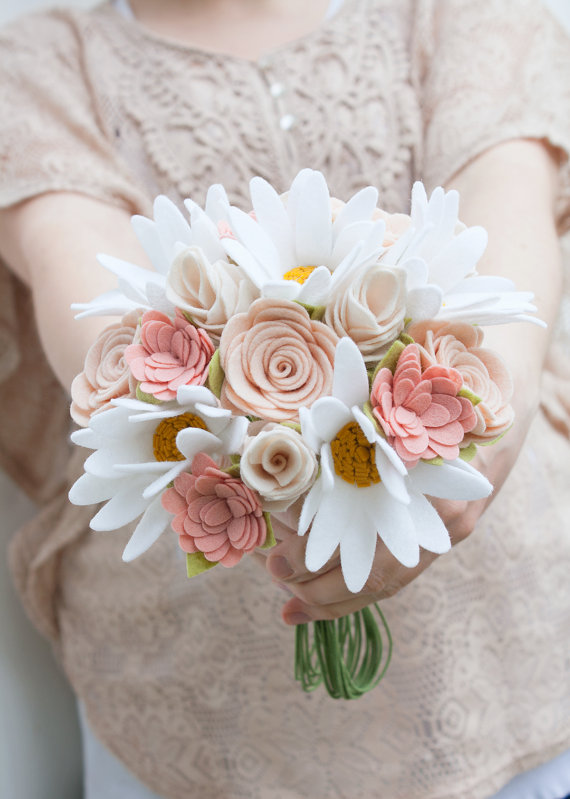 Букет невесты из фетра