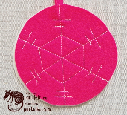 Розовая сторона снежинки