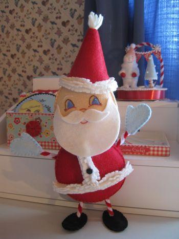 Санта на каркасе от Elizabeth Andrus