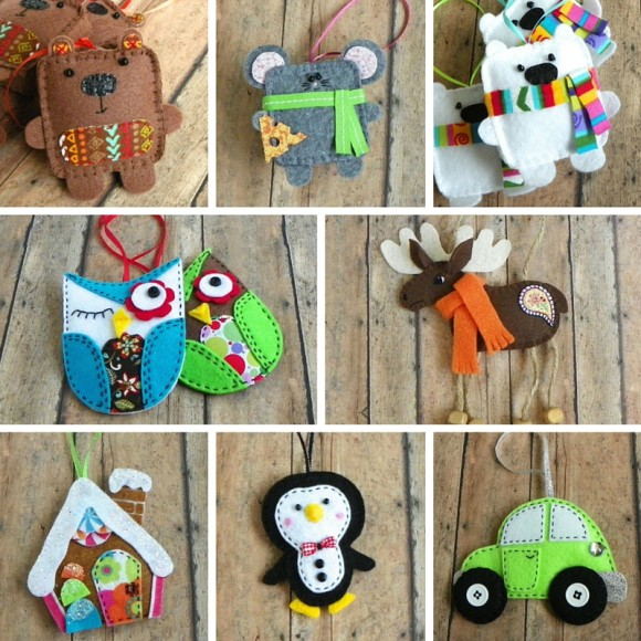 Яркое ассорти елочных игрушек от PaisleyMoose