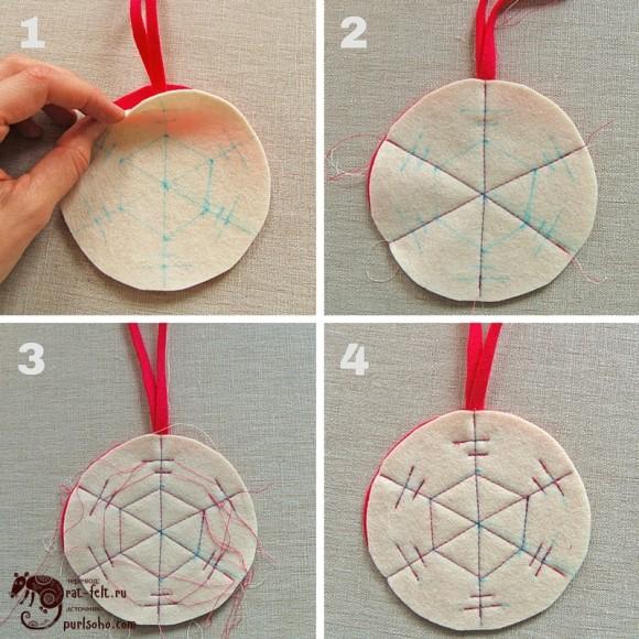 Третий этап - сшивание деталей