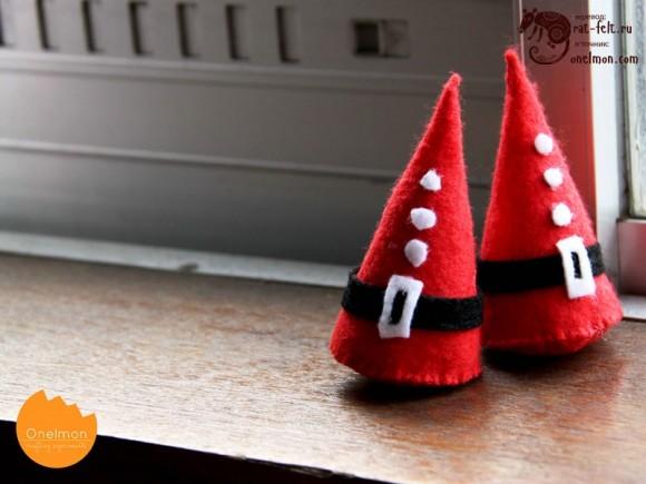 Елочки в виде Санта Клауса