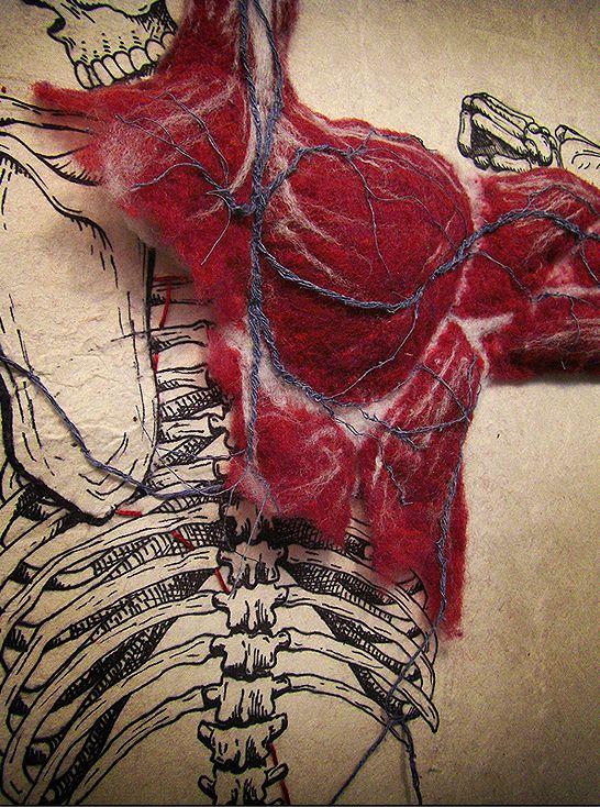 """""""Система"""" - обалденная инсталляция строения человеческого тела"""