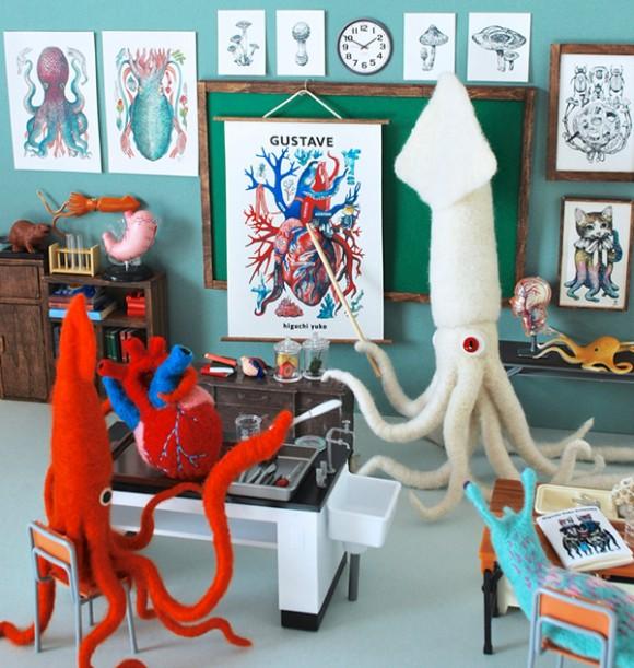 Осьминоги в классе анатомии