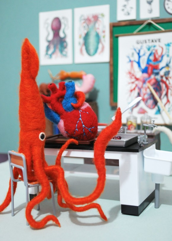 Миниатюра к статье Прелестные создания из фетра и шерсти от японки Hine Mizushima