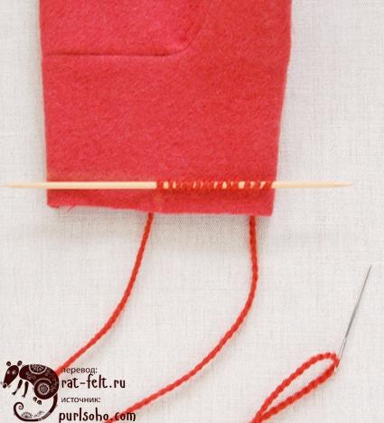 15 готовых петель манжеты для рукавицы