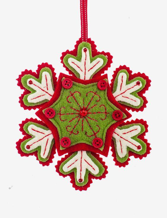 Миниатюра к статье Снежинки из фетра своими руками - 13 мк, шаблоны, идеи для вдохновения