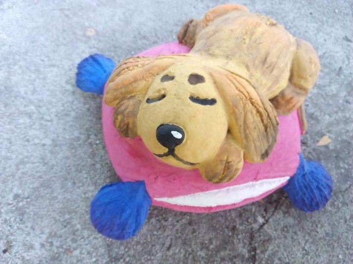 Собака из слоеного теста