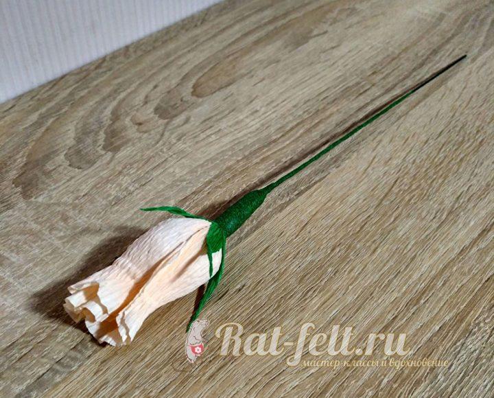 готовый цветочек из конфет