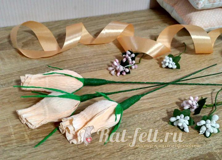 ленточка и цветы
