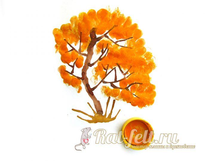рисуем желтую листву