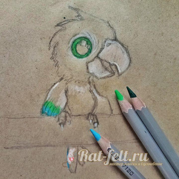 разрисовать зеленым