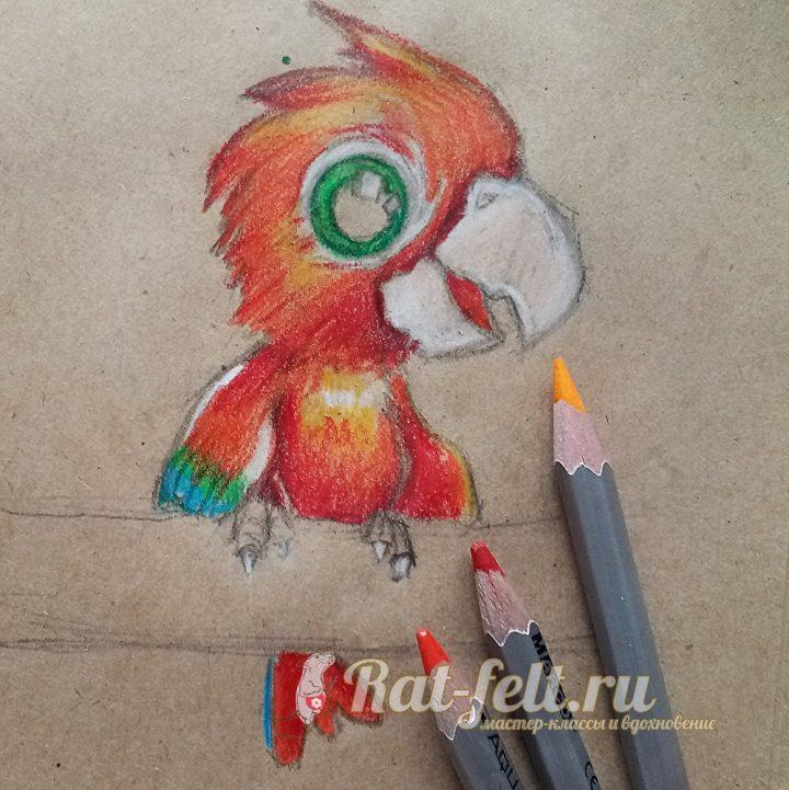 разрисовать красным