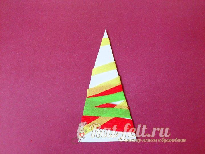 клеим на треугольник