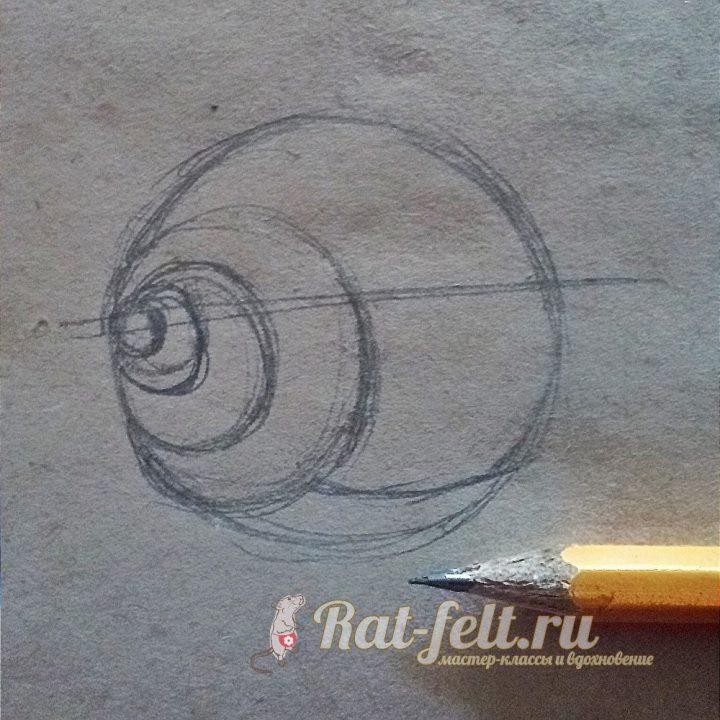 рисуем домик улитки