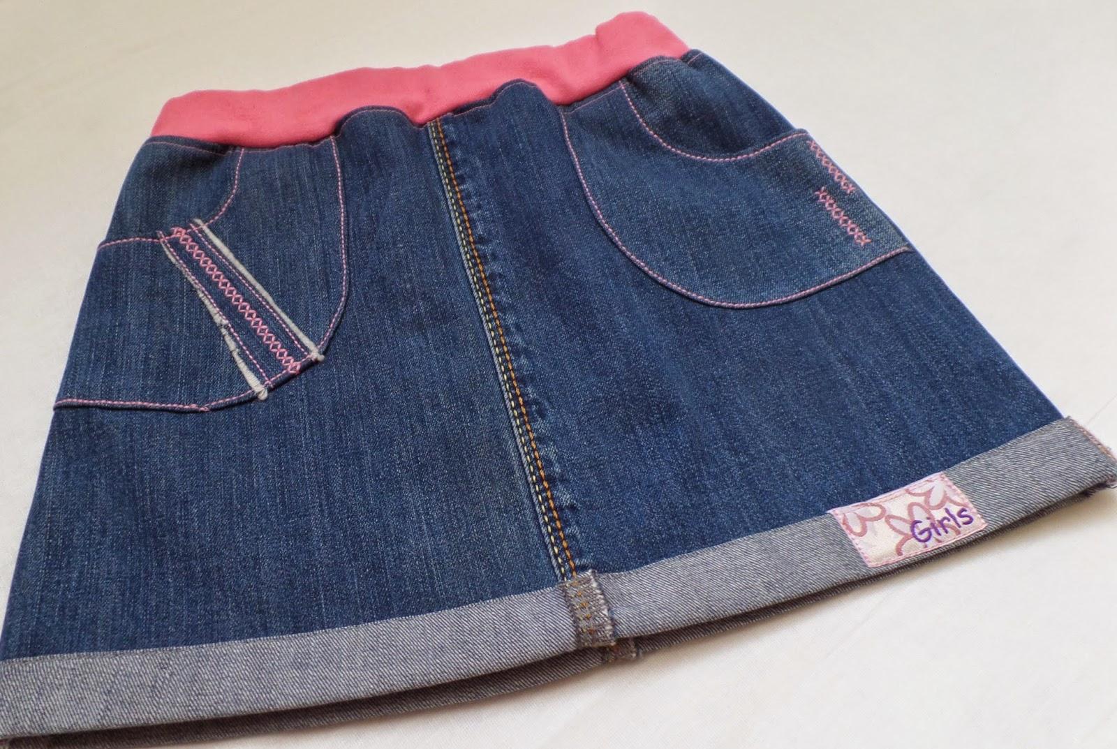 SAM_2478 Юбка из старых джинсов с оборкой, мастер-класс