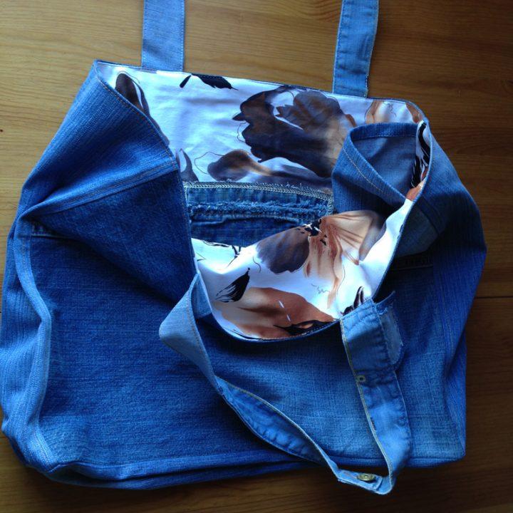 Как сшить сумку из старых джинсов видео