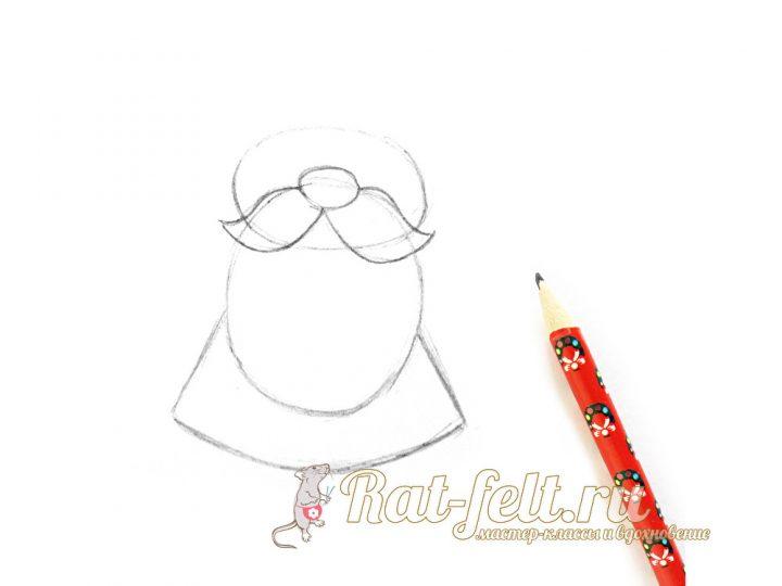 нарисовать бороду