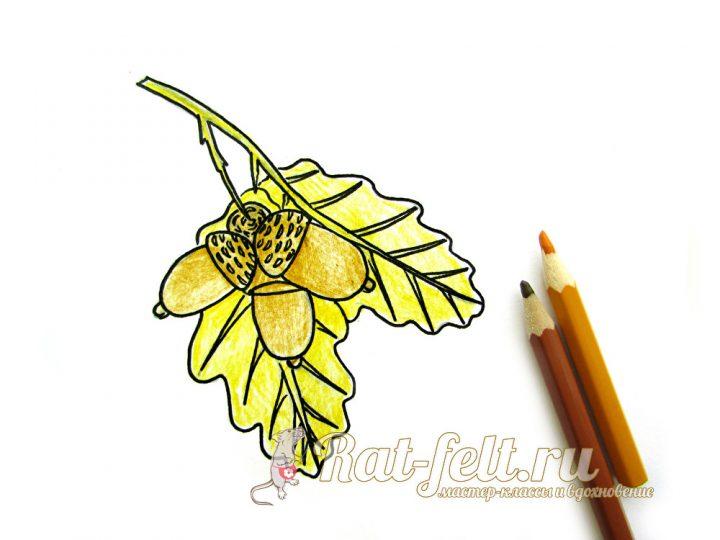 рисуем желтым карандашом