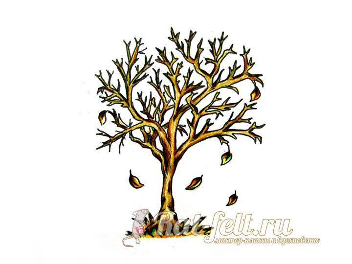 осеней дерево