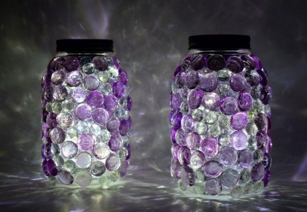 Подсвечник декорированный камнями