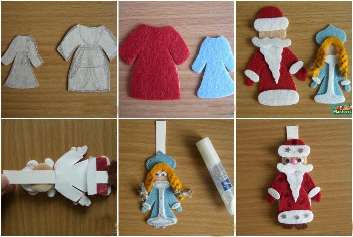 Дед мороз из фетра своими руками
