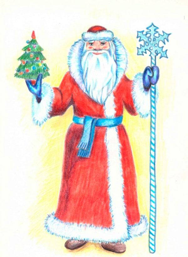 Рисуем Деда Мороза (пошагово)