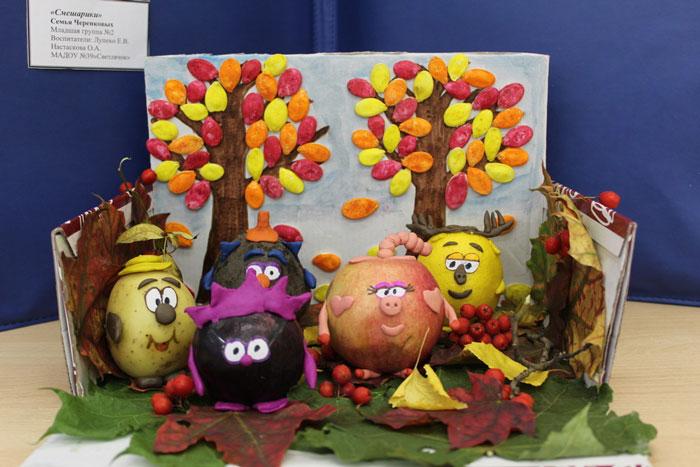 Идеи поделок из овощей для детского сада