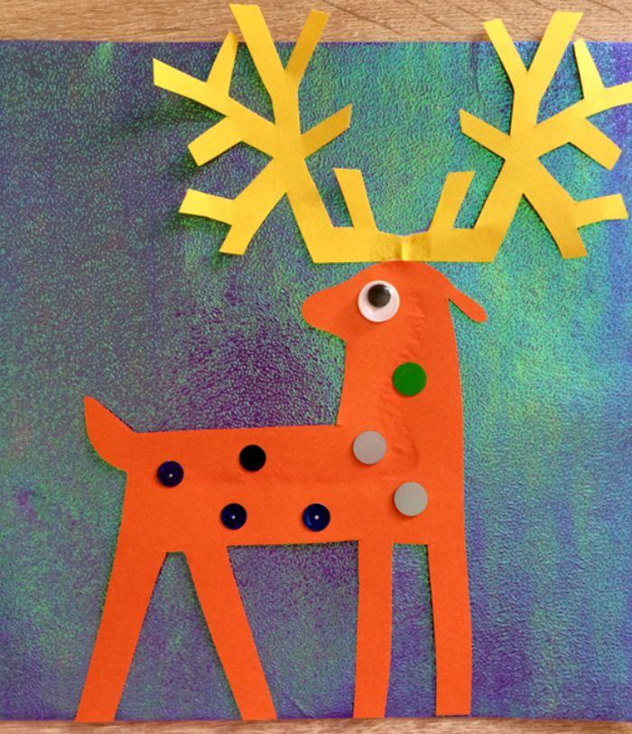 Аппликация с оленями для детского сада и школы на Новый год 2019