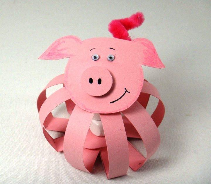 открытка на новый год своими руками из бумаги с детьми свинья уже рассказывали основных