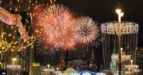 Новогодний салют в Москве в 2019 году