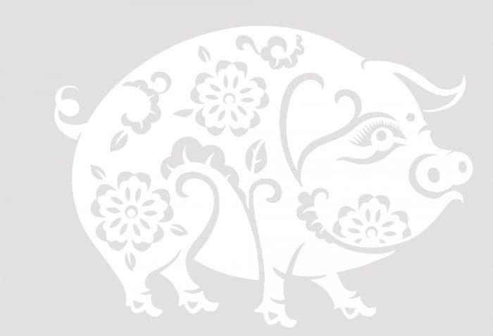 Украшения для окон в виде поросят: форматы а4 и а3