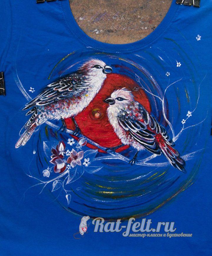 роспись на футболке