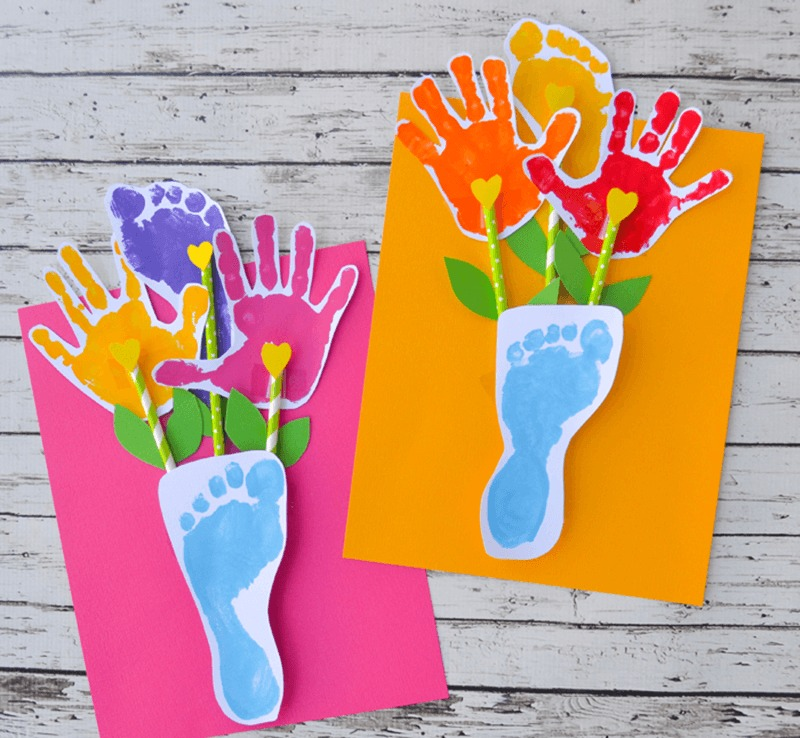 Аппликация открытки ко дню матери
