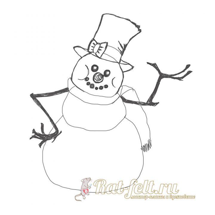 сказачный снеговик
