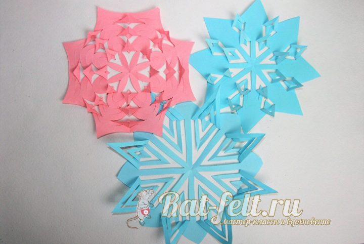 снежинка в технике киригами